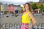 Miss universe finalist Aoife Hannon, pictured here last Tuesday in Listowel.