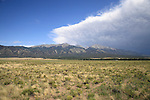 Storm approaching the San Luis Valley and the Sangre de Christo Mountains, Colorado, USA