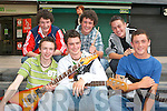 "JAMMING: The band 2 Day Nation Jamming at the KDYS Fall Festival in Tralee Town Square on Sunday front l-r: Bernard O""Connor, Darragh Collins and John O'Connor. Back l-r: Eoin (Gally) Galvin (Manager), John O'Donnell and Conor Breen.."