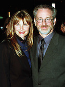 """Producer / Director Steven Spielberg and his wife, Kate Capshaw, arrive at the Warner Theatre for the Washington, D.C. Premiere of his latest movie """"Amistad"""" on December 4, 1997..Credit: Ron Sachs / CNP"""