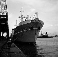 Oktober 1966. Schip Zadar in de haven van Antwerpen.