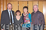 Der and Kathleen Brosnan with Deirdre and Mossie Cremin at the Dr Crokes awards night in the Malton on Friday night.