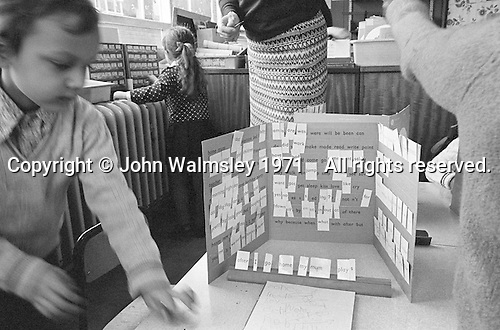 Language class, Julian's Primary School, Streatham, London.  1971.