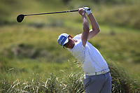 Robert Brazill (Naas) on the 4th tee during the Final of the AIG Irish Amateur Close Championship 2019 in Ballybunion Golf Club, Ballybunion, Co. Kerry on Wednesday 7th August 2019.<br /> <br /> Picture:  Thos Caffrey / www.golffile.ie<br /> <br /> All photos usage must carry mandatory copyright credit (© Golffile | Thos Caffrey)