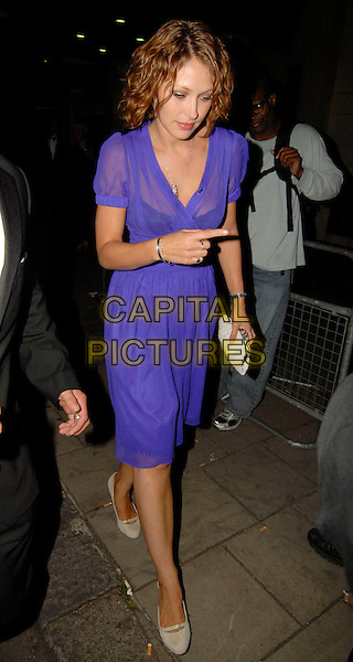 EMMA GRIFFITHS.Afterparty at Mahiki nightclub for the TV Quick & TV Choice Awards, The Dorchester Hotel, London, England. September 3rd 2007 .full length purple dress.CAP/SW.©Stephen Walters/Capital Pictures.