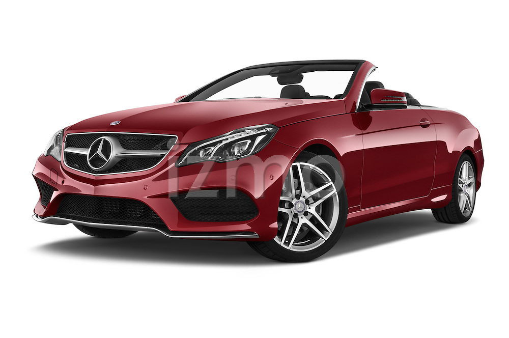 Stock pictures of low aggressive front three quarter view of a 2015 Mercedes Benz E Class AMG Line 2 Door Convertible 2WD Low Aggressive