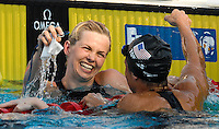 Roma 2nd August 2009 - 13th Fina World Championships .From 17th to 2nd August 2009.Women's 50 Breastroke.Britta STEFFEN (GER) Gold Medal, Dara TORRES (USA).Roma2009.com/InsideFoto/SeaSee.com . .Foto Andrea Staccioli Insidefoto