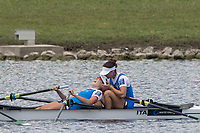 Sarasota. Florida USA.  ITA LW4X. celebrate after crossing the finishing line, Semi Final A/B. 2017 at the  World Rowing Championships, Nathan Benderson Park<br /> <br /> Friday  29.09.17   <br /> <br /> [Mandatory Credit. Peter SPURRIER/Intersport Images].<br /> <br /> <br /> NIKON CORPORATION -  NIKON D500  lens  VR 500mm f/4G IF-ED mm. 200 ISO 1/1250/sec. f 5.6