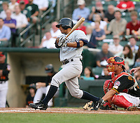 2007:  Angel Chavez of the Scranton Wilkes-Barre Yankees, Class-AAA affiliate of the New York Yankees, during the International League baseball season.  Photo by Mike Janes/Four Seam Images