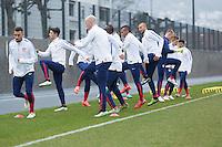 Zürich, Switzerland - Sunday, March 22, 2015: The USMNT Train in preparation for their friendly match versus Switzerland at Stadion Letzigrund.
