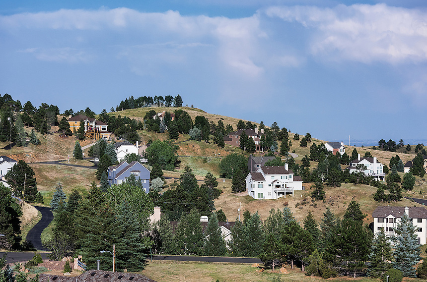 Housing development, Jefferson County, Colorado, USA