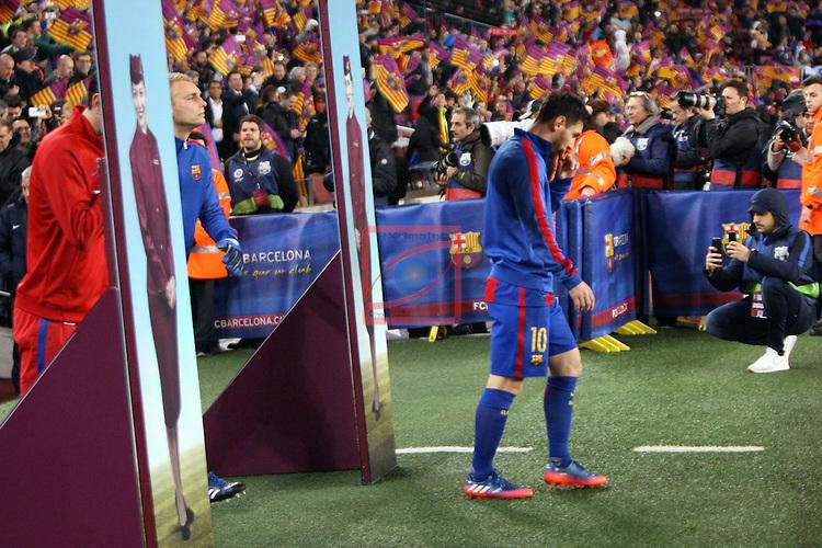 Copa del Rey 2016/2017 - Semifinal vuelta.<br /> FC Barcelona vs Atletico Madrid: 1-1.<br /> Lionel Messi.
