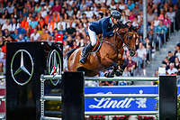 SWE-Peder Fredricson rides H&M Christian K during the Mercedes-Benz CSIO5* Nationenpreis. 2019 GER-CHIO Aachen Weltfest des Pferdesports. Thursday 18 July. Copyright Photo: Libby Law Photography