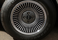 BNPS.co.uk (01202 558833)<br /> Pic: PhilYeomans/BNPS<br /> <br /> Original Delorean wheels.<br /> <br /> Back to the Future...finally!<br /> <br /> A British car nut has spent over £200,000 converting his DeLorean into a stunning electric eco supercar for the 21st century.<br /> <br /> The transformation of the lame duck motor from the 1980's using Tesla battery technology brings the ill fated model right back to the future.<br /> <br /> Former music producer Phil Wainman commissioned engineer Clint Townsend to attempt to convert the Delorean using Tesla batteries as an eco experiment.<br /> <br /> And the spectacular stainless steel supercar even boasts a Flux Capacitor style gear selector and a sampled annoucement of  'Great Scot' as the powerful motor goes past 88mph.