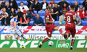 9th September 2017, Madejski Stadium, Reading, England; EFL Championship football, Reading versus Bristol City; Liam Kelly of Reading takes a shot at goal