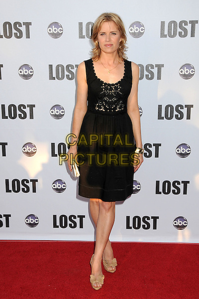 """KIM DICKENS.""""Lost"""" Live: The Final Celebration held at UCLA's Royce Hall, Westwood, California, USA..May 13th, 2010.full length black dress crochet sleeveless skirt top gold clutch bag beige peep toe shoes .CAP/ADM/BP.©Byron Purvis/AdMedia/Capital Pictures."""