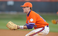 First baseman Ben Paulsen (10) during a game between the Charlotte 49ers and Clemson Tigers Feb. 20, 2009, at Doug Kingsmore Stadium in Clemson, S.C. (Photo by: Tom Priddy/Four Seam Images)