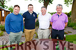 Dan Conley, Ciaran O'Sullivan, Liam Leen and Kevin Sweetnam at the Dairymaster 50th Anniversary BBQ in the Ballygarry Hotel on Sunday.