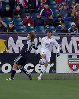 DC United defender Dejan Jakovic (5) clears the ball. In a Major League Soccer (MLS) match, the New England Revolution defeated DC United, 2-1, at Gillette Stadium on March 26, 2011.