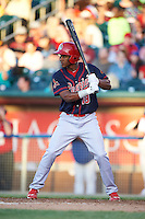 Peoria Chiefs outfielder Magneuris Sierra (19) at bat during a game against the Lansing Lugnuts on June 6, 2015 at Cooley Law School Stadium in Lansing, Michigan.  Lansing defeated Peoria 6-2.  (Mike Janes/Four Seam Images)