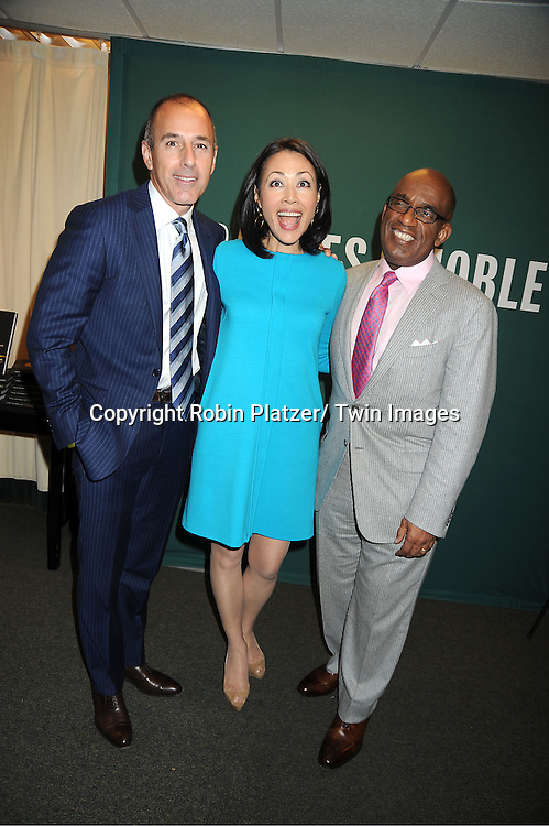 "Matt Lauer, Ann Curry, Al Roker attend the book signing for ""From Yesterday to TODAY"" ..on November 17, 2011 at Barnes & Noble on 5th Avenue in New York City."