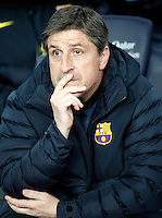 FC Barcelona's coach Jordi Roura during Copa del Rey - King's Cup semifinal second match.February 26,2013. (ALTERPHOTOS/Acero) /Nortephoto