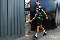 Bersant Celina of Swansea City arrives for the pre season friendly match between Exeter City and Swansea City at St James Park in Exeter, England, UK. Saturday, 20 July 2019