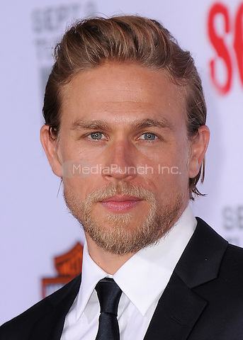 """HOLLYWOOD, CA - SEPTEMBER 6:  Charlie Hunnam at the premiere screening of FX's """"Sons of Anarchy"""" at the TCL Chinese Theatre on September 6, 2014 in Hollywood, California. Credit: PGSK/MediaPunch"""