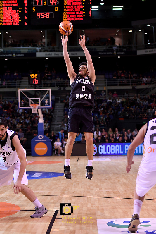 New Zealand Tall Blacks&rsquo; Shea Ili in action during the FIBA World Cup Basketball Qualifier - NZ Tall Blacks v Jordan at Horncastle Arena, Christchurch, New Zealand on Thursday 29 November  2018. <br /> Photo by Masanori Udagawa. <br /> www.photowellington.photoshelter.com