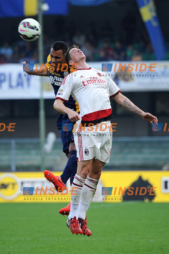 Rafael Marques Verona, Fernando Torres Milan <br /> Verona 19-10-2014 Stadio Bentegodi, Football Calcio Serie A Hellas Verona - Milan. Foto Andrea Staccioli / Insidefoto