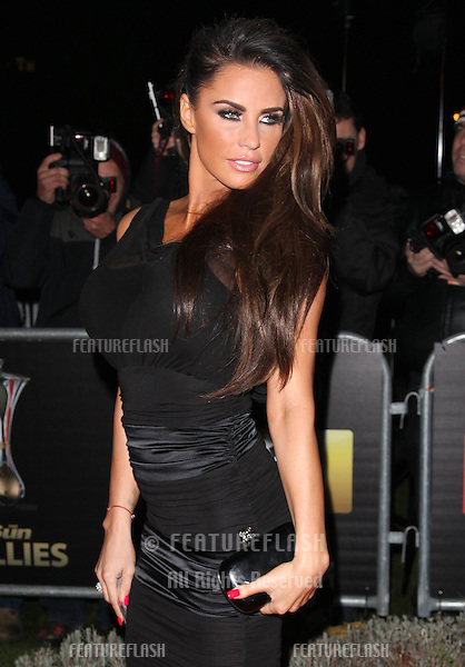 Katie Price arriving for The Sun Military Awards, at The Imperial War Museum, London. 06/12/2012 Picture by: Alexandra Glen / Featureflash