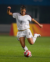Carli Lloyd. The US lost to Norway, 2-0, during first round play at the 2008 Beijing Olympics in Qinhuangdao, China.