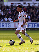Pictured: Leon Britton of Swansea City in action<br /> Re: Coca Cola Championship, Swansea City FC v Cardiff City at the Liberty Stadium. Swansea, south Wales, Sunday 30 November 2008.<br /> Picture by D Legakis Photography / Athena Picture Agency, Swansea 07815441513