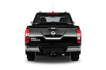 Straight rear view of 2016 Nissan NP300 Tekna 4 Door Pickup Rear View  stock images