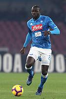 Kalidou Koulibaly  Napoli<br /> Napoli 13-01-2019  Stadio San Paolo <br /> Football Italy Cup 2018/2019, round of 16<br /> Napoli - Sassuolo<br /> Foto Cesare Purini / Insidefoto