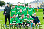 winning team  the Boy from the Avenue   was presented with the trophy at the  Inter Firm seven a-side soccer blitz  in aid of local charities at the Low Field, Tralee on Saturday