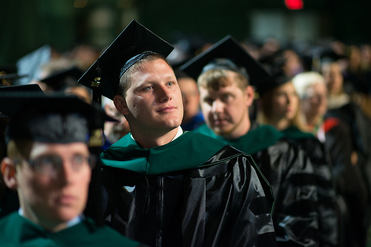 Cody Smith at graduate commencement. Photo by Ben Siegel