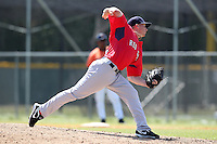 Boston Red Sox minor league player Jordan Flasher #74 during a spring training game vs the Baltimore Orioles at the Buck O'Neil Complex in Sarasota, Florida;  March 22, 2011.  Photo By Mike Janes/Four Seam Images