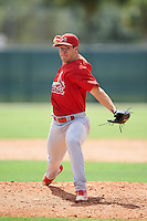GCL Cardinals relief pitcher Robbie Gordon (30) during the first game of a doubleheader against the GCL Marlins on August 13, 2016 at Roger Dean Complex in Jupiter, Florida.  GCL Cardinals defeated GCL Marlins 4-2 in a continuation of a game originally started on August 8th.  (Mike Janes/Four Seam Images)