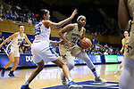 DURHAM, NC - FEBRUARY 01: Georgia Tech's Kierra Fletcher (41) and Duke's Jade Williams (25). The Duke University Blue Devils hosted the Georgia Tech University Yellow Jackets on February 1, 2018 at Cameron Indoor Stadium in Durham, NC in a Division I women's college basketball game. Duke won the game 77-59.