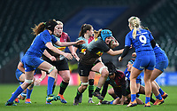 28th December 2019; Twickenham, London, England; Big Game 12 Womens Rugby, Harlequins versus Leinster; Fiona Fletcher of Harlequins carries the ball forward - Editorial Use