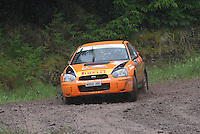 Jock Armstrong / Kirsty Riddick at Junction 12 on Special Stage 2 Windy Hill of the 2012 RSAC Scottish Rally supported by Dumfries and Galloway Council, Round 5 of the RAC MSA Scottish Rally Championship which was based in Dumfries on 30.6.12.