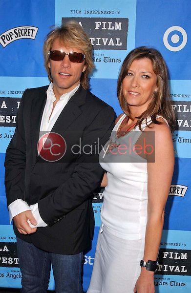 Jon Bon Jovi and wife Dorothea<br />