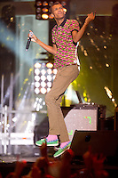 Stromae in concert on the ' Grand Place ' in Brussels - Belgium