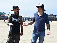 SANTA MONICA - SEPTEMBER 9: Joseph Raymond Lucero and Antonio Jaramillo volunteer for FX and Disney's Summer of Service Beach Cleanup with Heal the Bay on September 9, 2019 in Santa Monica, California. (Photo by Frank Micelotta/FX/PictureGroup)