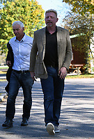 Boris Becker, Head of Men·s Tennis of the German Tennis Federation, arrives for a panel discussion in Ismaning, Germany, 17 October 2017. Photo: Peter Kneffel/dpa /MediaPunch ***FOR USA ONLY***