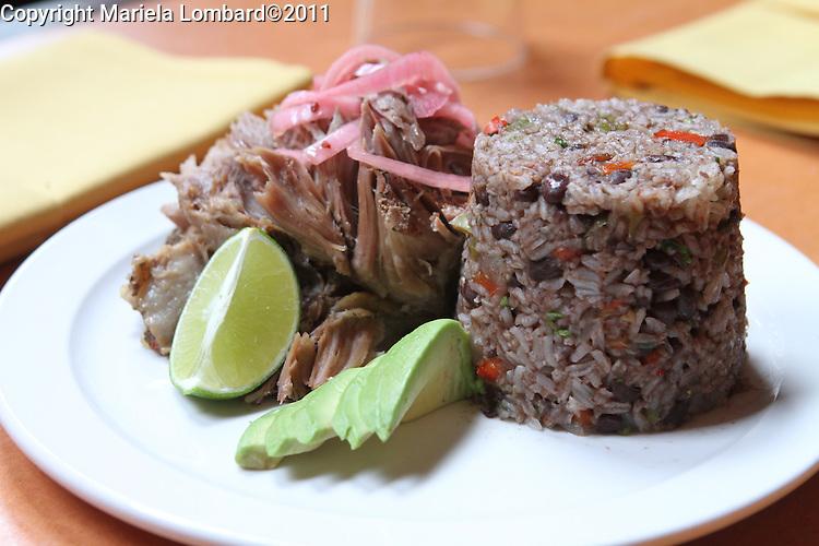 Roast Pork (Pernil Asado).Havanna Central Executive Chef Stanley Licairac..Havanna Central located at 2911 Broadway in Manhattan..