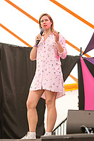 21st July 2019: Comedian Lou Sanders plays the third day of the 2019 Latitude Festival 2019 at Henham Park, Suffolk.