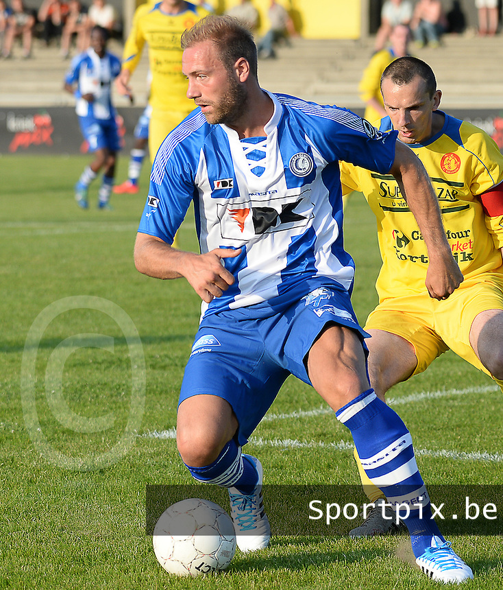 20140626 - LAUWE, BELGIUM : Gent Laurent Depoitre pictured during  a friendly match between FC Gullegem and Belgian first division soccer team KAA Gent, the second match for KAA Gent of the preparations for the 2014-2015 season, Tuesday 24 June 2014 in Lauwe. PHOTO DAVID CATRY