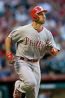 Philadelphia Phillies OF Raul Ibanez against the Houston Astros on Turn Back the Clock Nite. Game played on Saturday April 10th, 2010 at Minute Maid Park in Houston, Texas.  (Photo by Andrew Woolley / Four Seam Images)